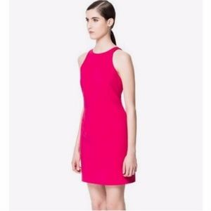 Zara Racerback Dress, Hot Pink